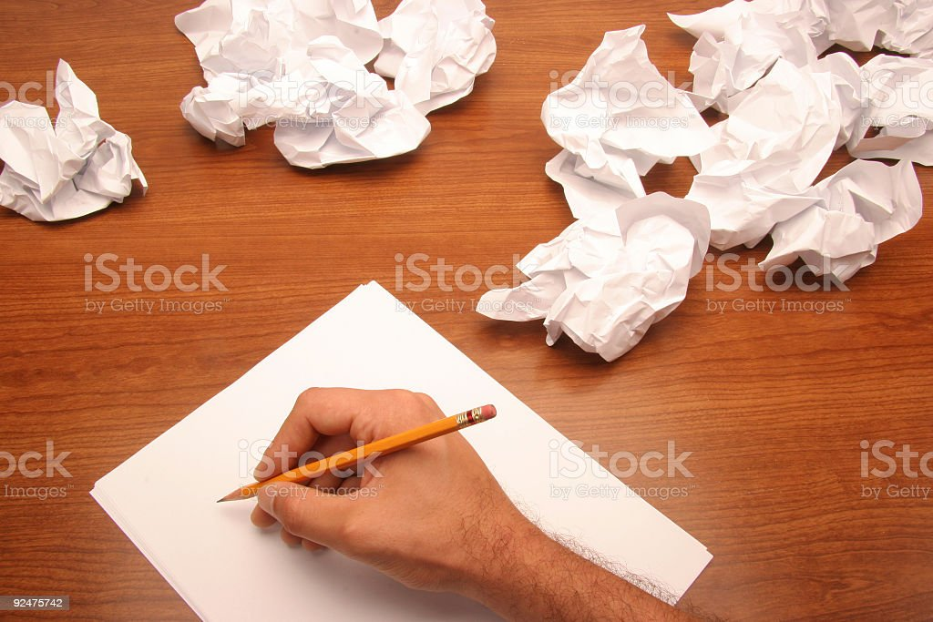 writing ideas royalty-free stock photo