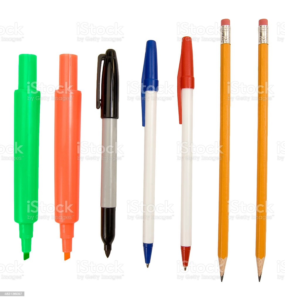 Writing Implements stock photo