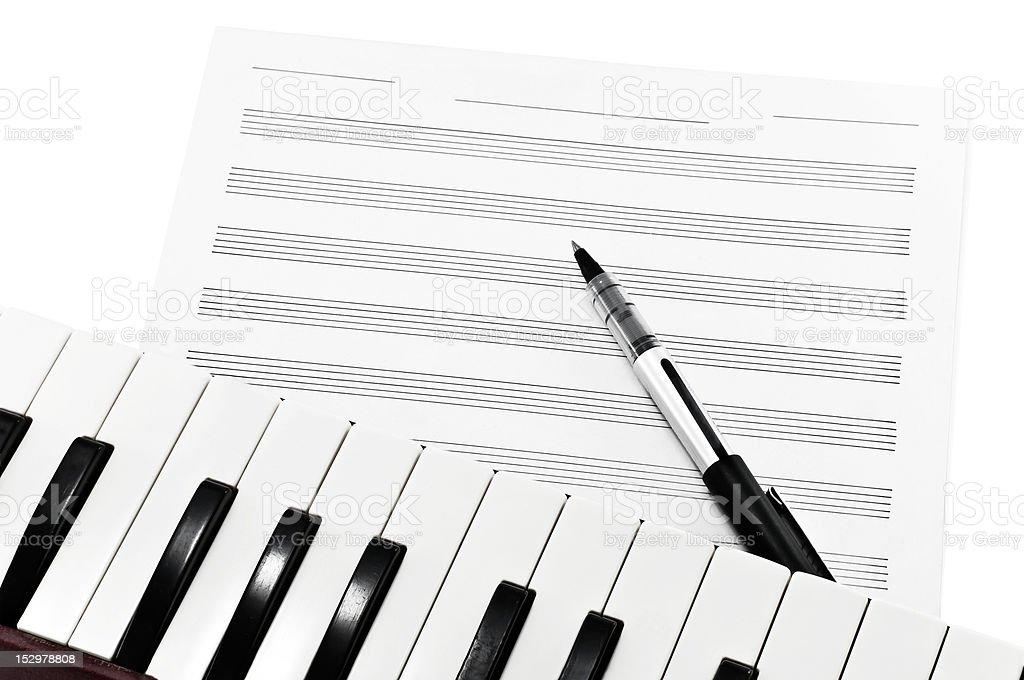 Writing Music royalty-free stock photo