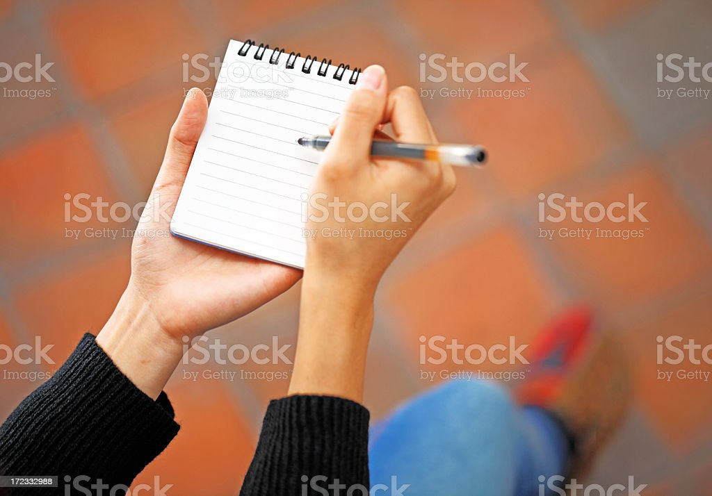 writing note royalty-free stock photo