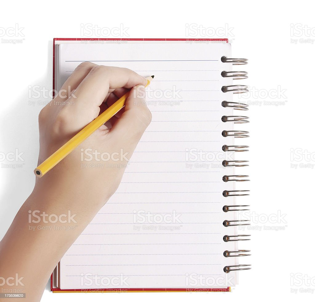 Writing Notebook royalty-free stock photo