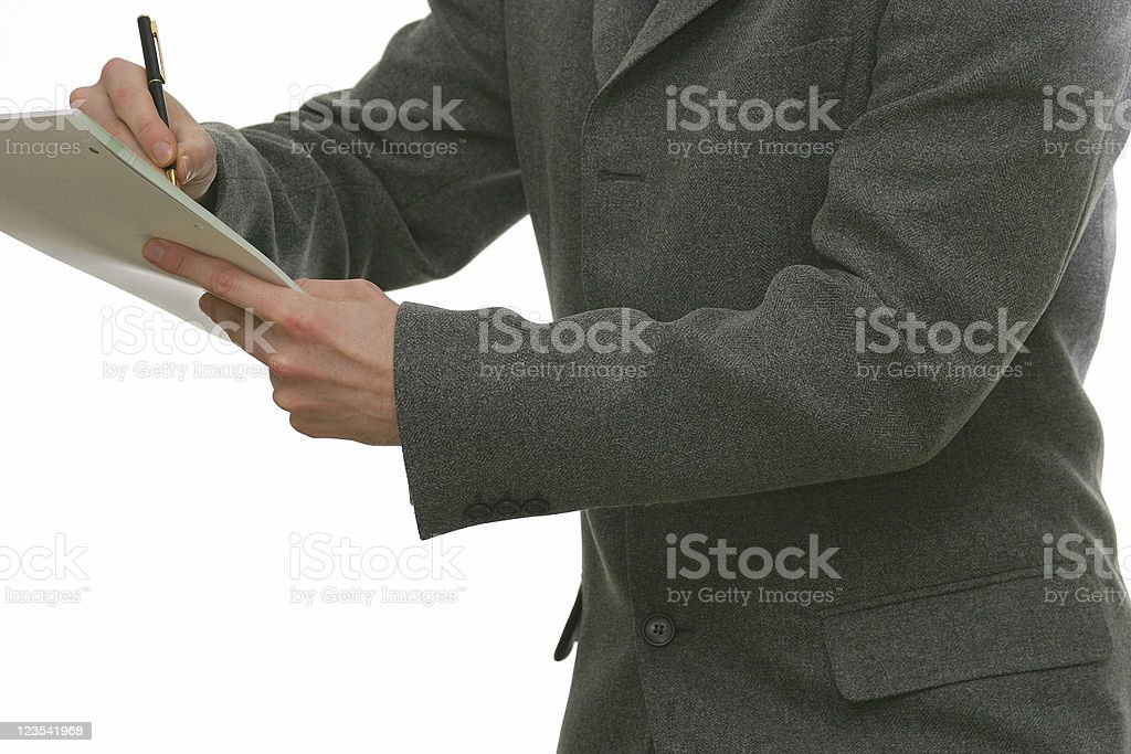 Writing notes stock photo