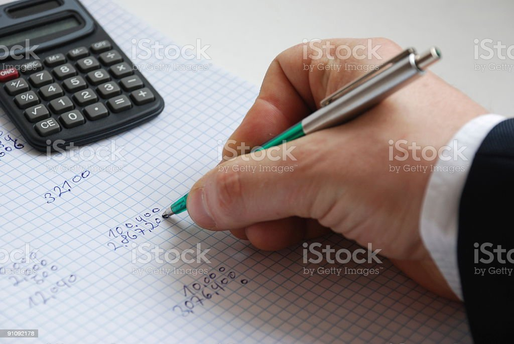 Writing numbers. royalty-free stock photo