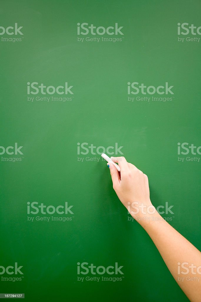 Writing on a Chalkboard royalty-free stock photo