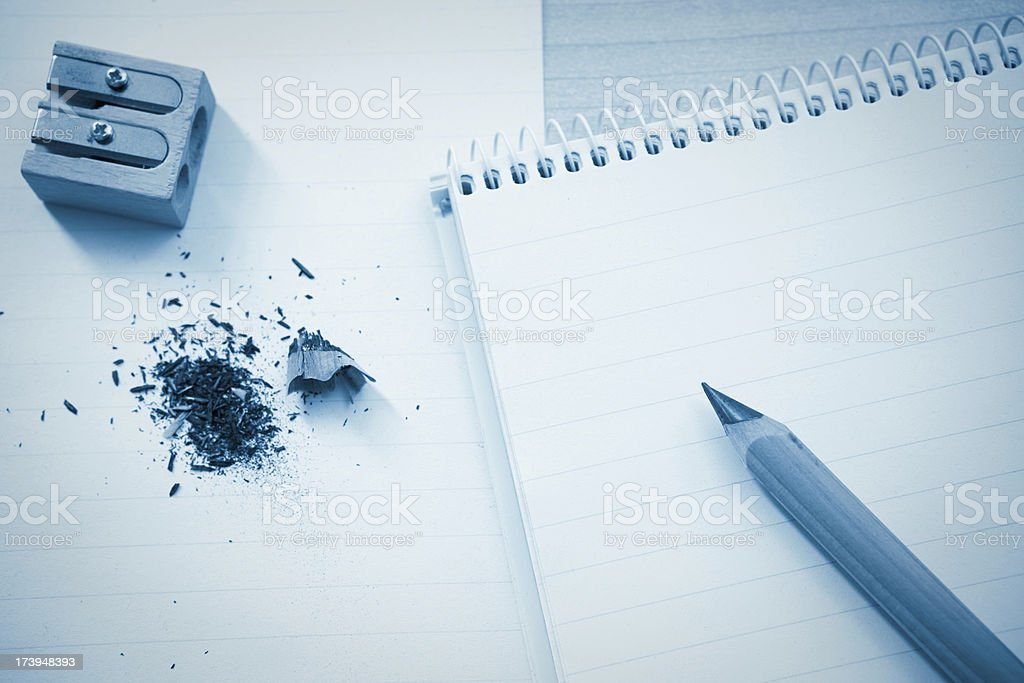 Writing on a Note pad stock photo