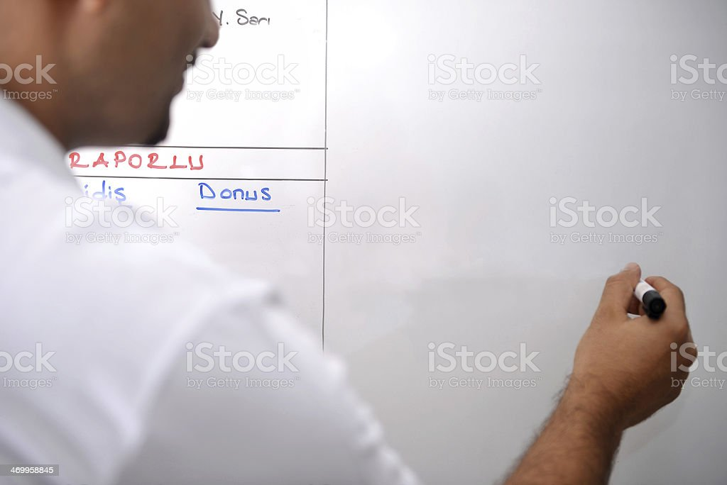 Writing on board royalty-free stock photo