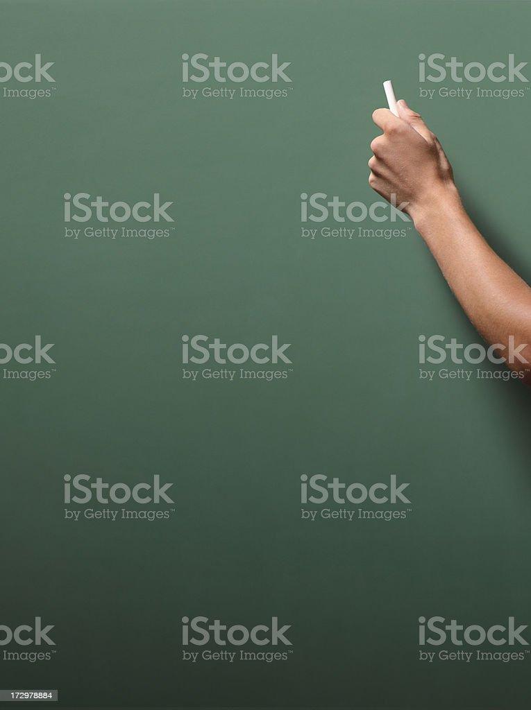 Writing on Chalkboard royalty-free stock photo