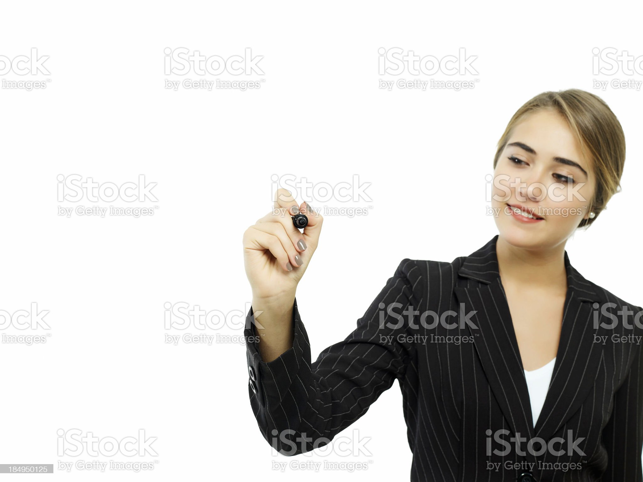 Writing on screen royalty-free stock photo