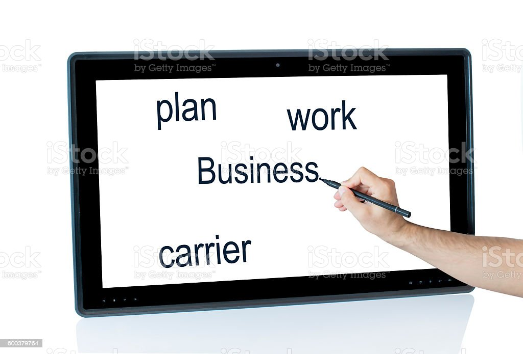 writing on tablets text stock photo