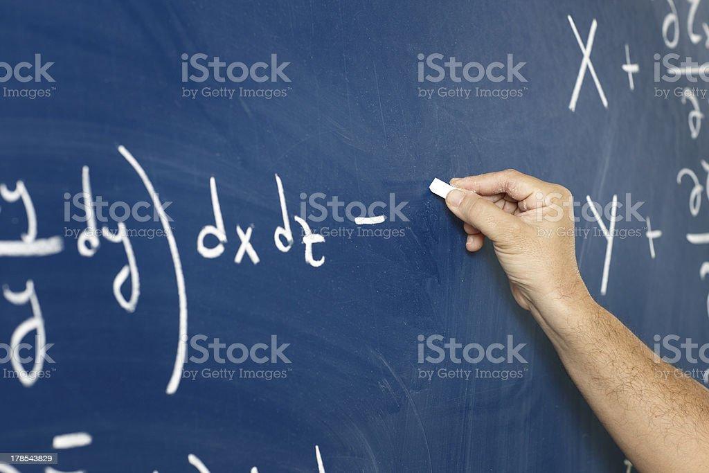 Writing on the blackboard royalty-free stock photo