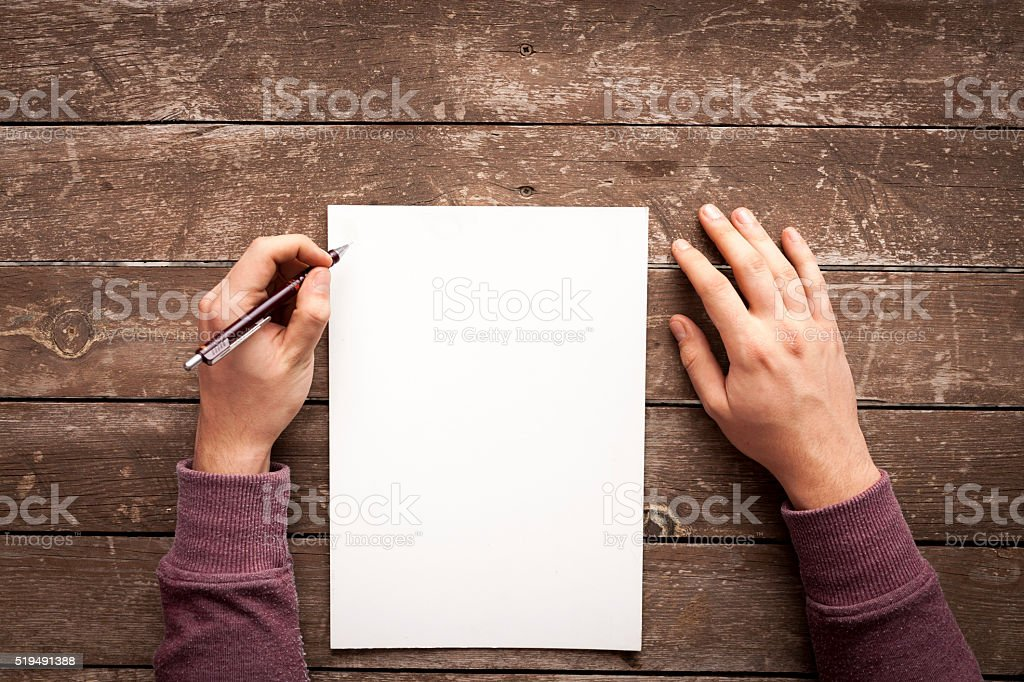 Writing On The Paper stock photo