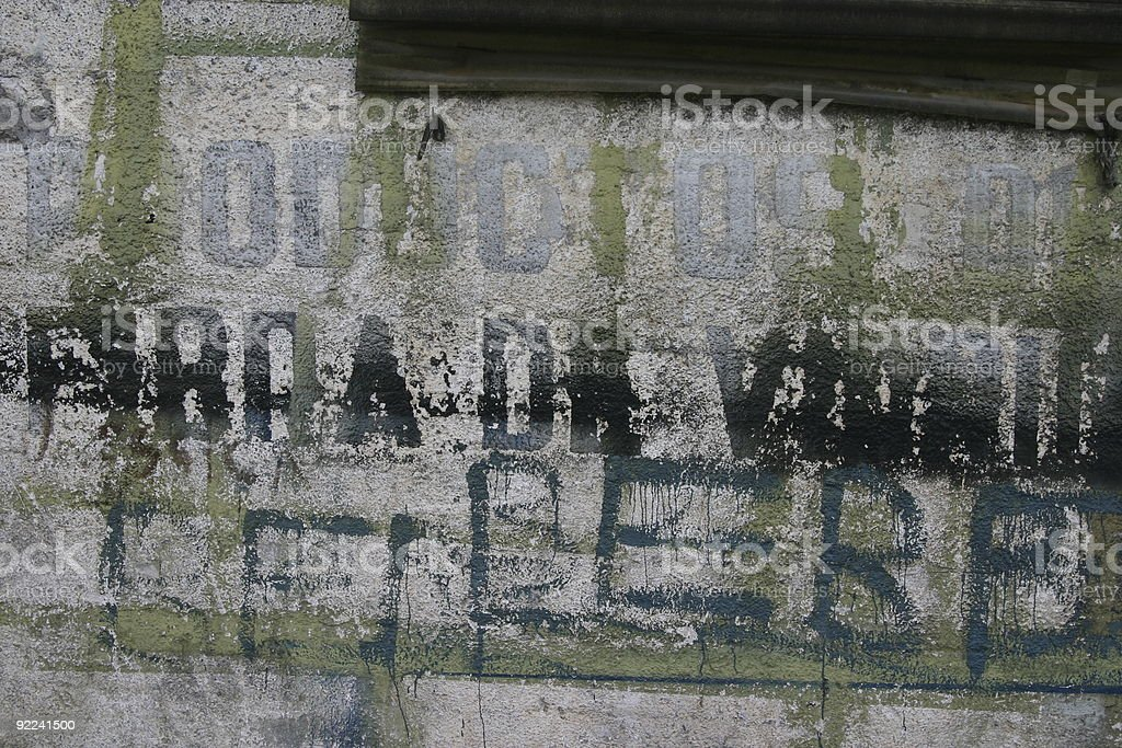 Writing on the wall royalty-free stock photo