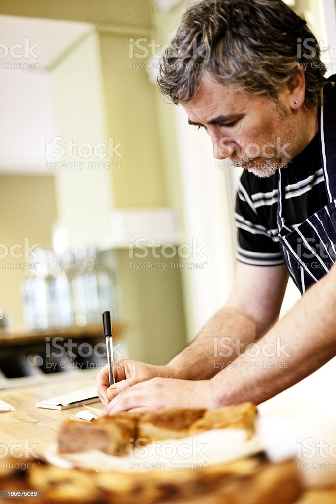 Writing out the bill royalty-free stock photo