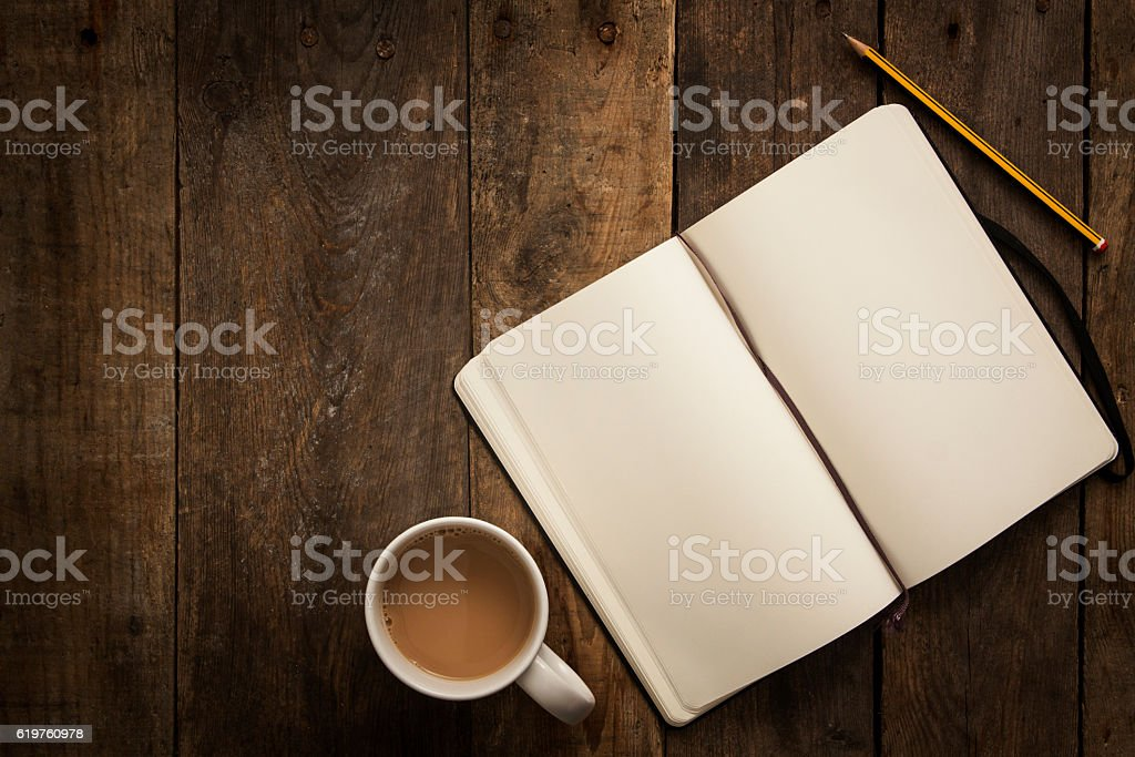 Writing Overhead stock photo