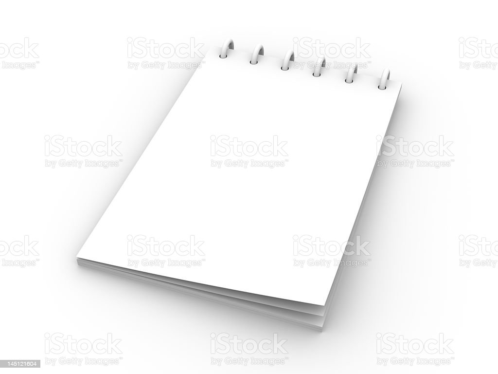 Writing Pad royalty-free stock photo