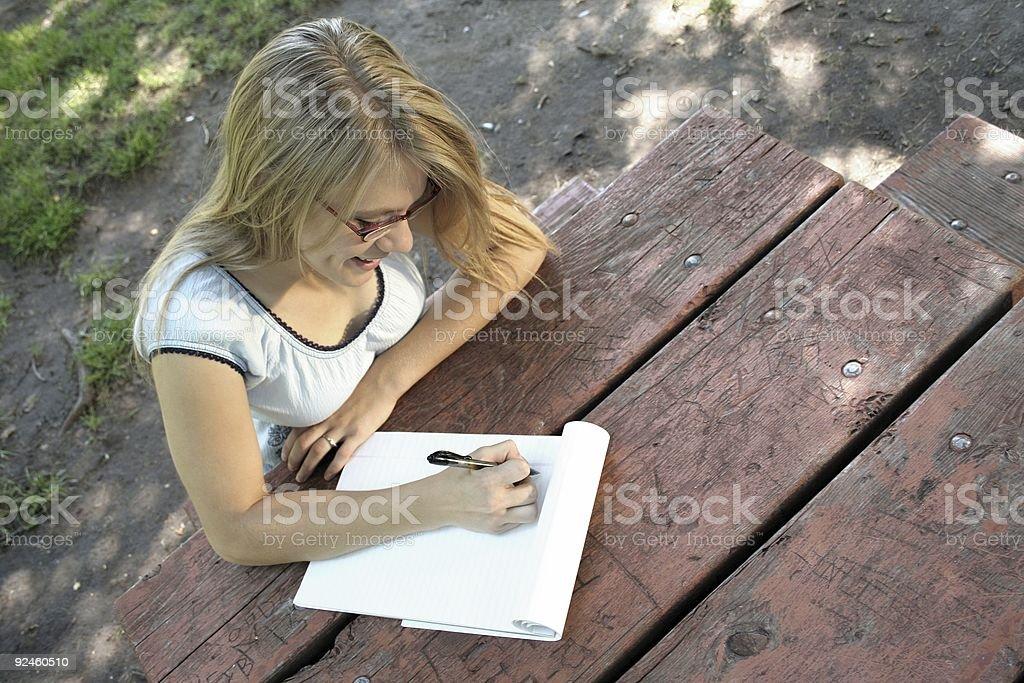 Writing Pad stock photo