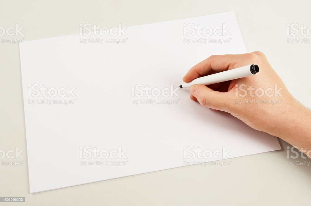 Writing (Click for more) stock photo
