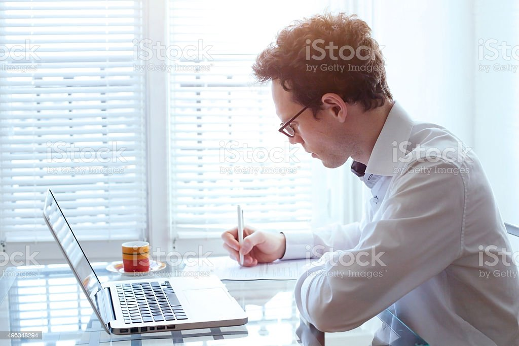 writing resume stock photo