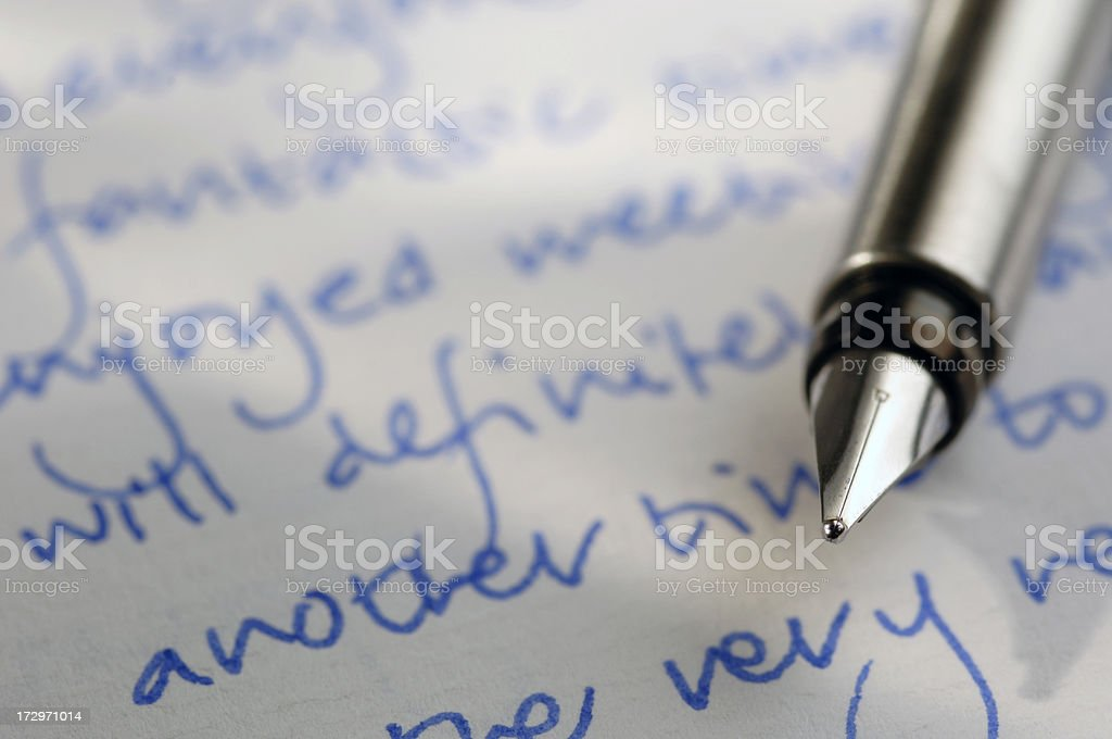 writing series royalty-free stock photo