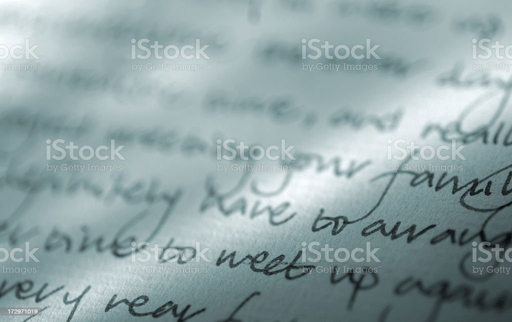 writing series royalty-free stock photo