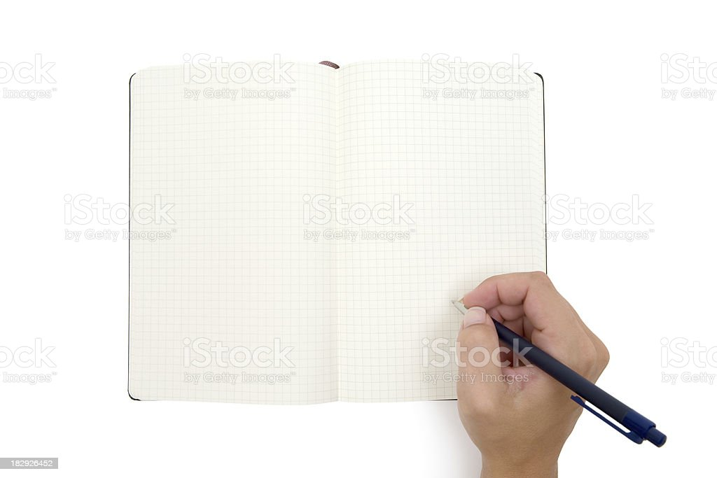 Writing Something Into a Notebook royalty-free stock photo