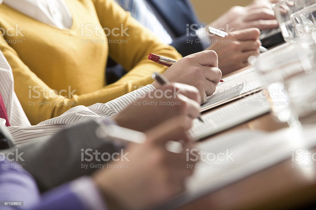 Writing summary stock photo