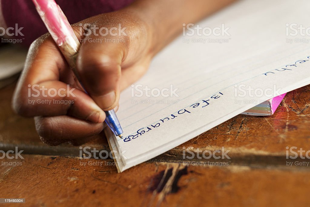 Writing the date stock photo
