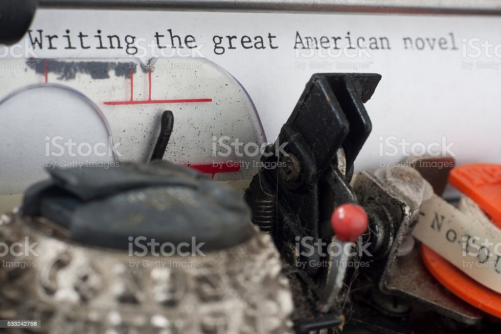 Writing The Great American Novel stock photo