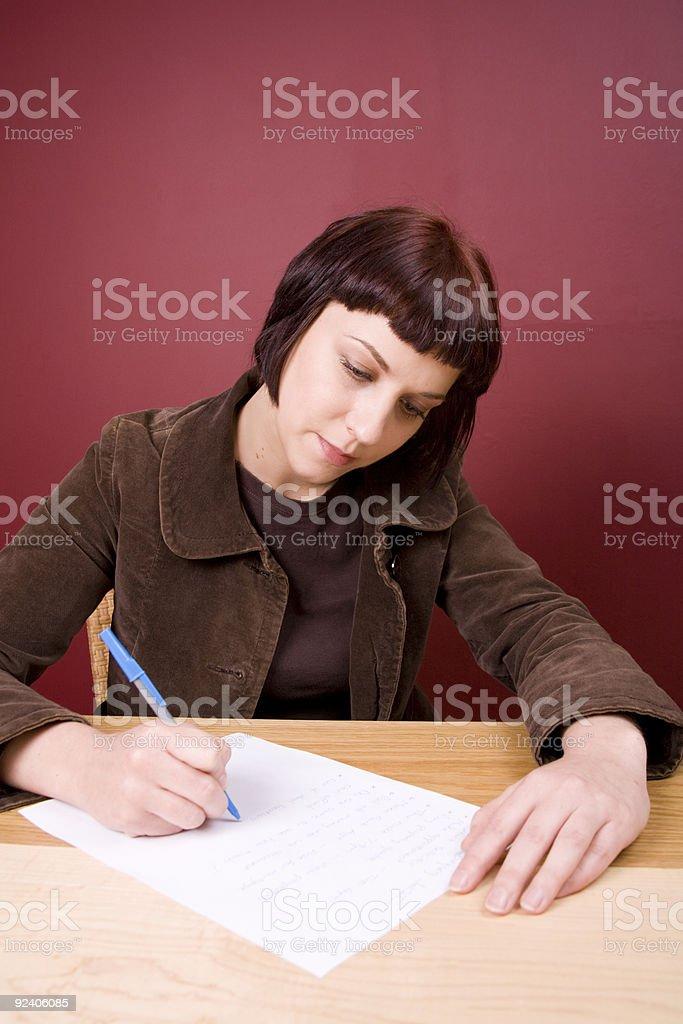 Writing the List stock photo