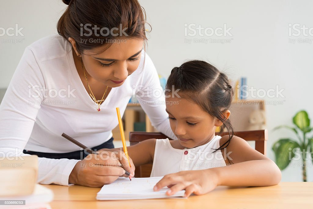 Writing together stock photo