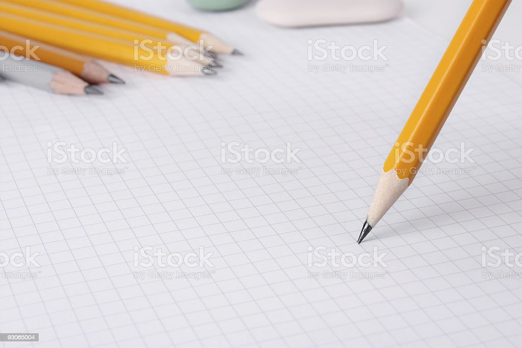 Writing with pencil royalty-free stock photo