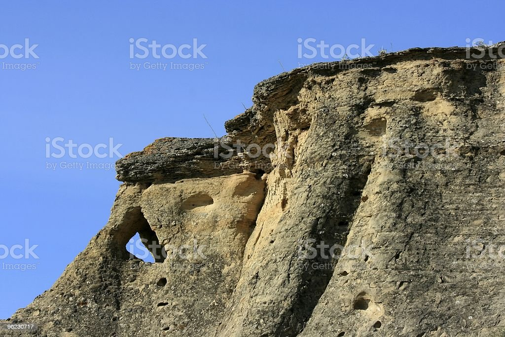 Writing-On-Stone Land Formations royalty-free stock photo
