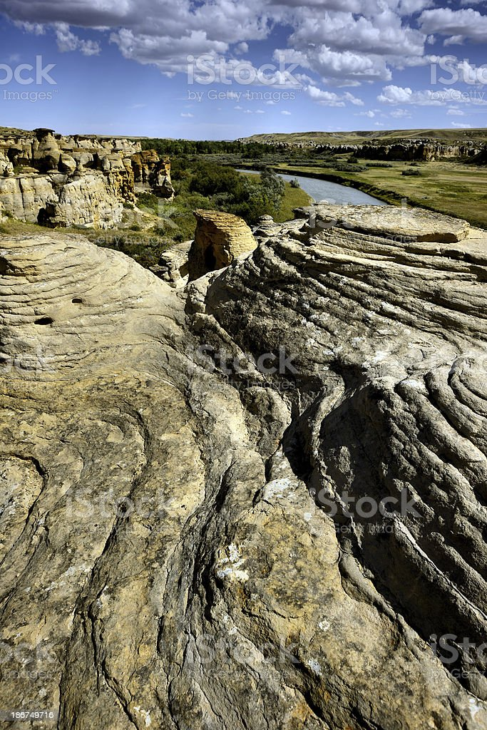 Writing-On-Stone Provincial Park royalty-free stock photo