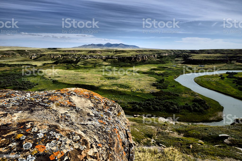 Writing-On-Stone Provincial Park stock photo