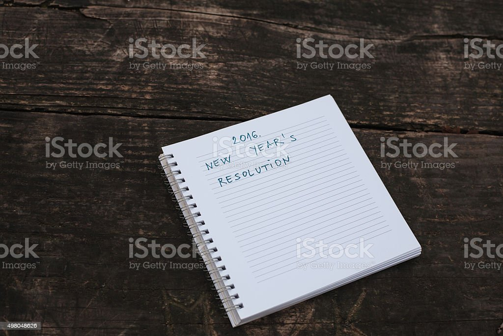 Written 2016. New Year's Resolution royalty-free stock photo