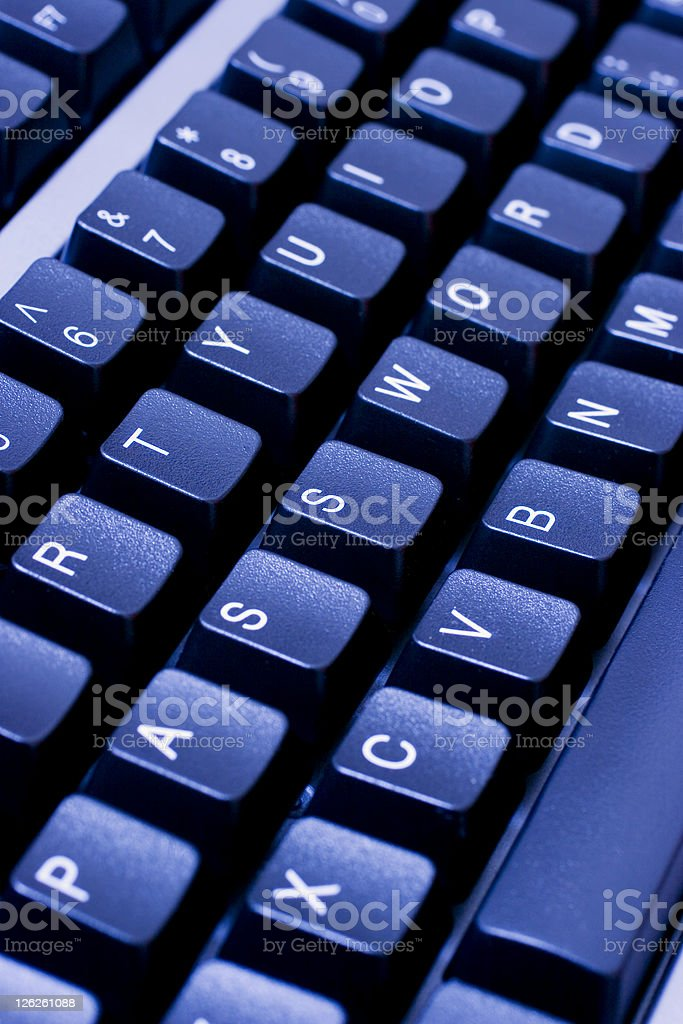 PASSWORD written across blue computer keyboard royalty-free stock photo