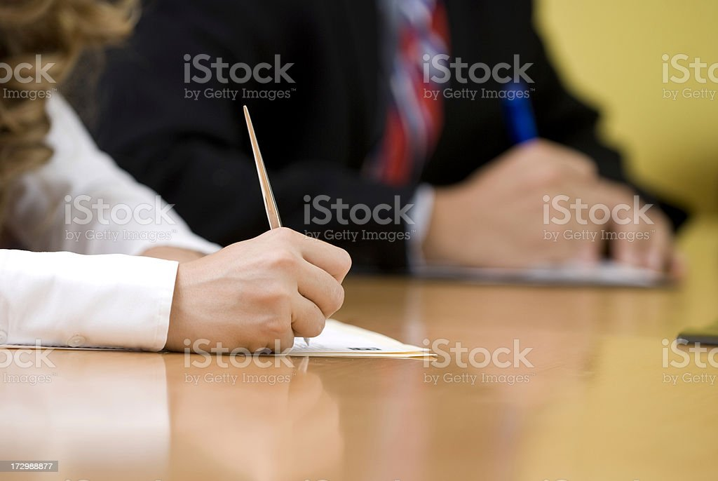 Written agreement royalty-free stock photo