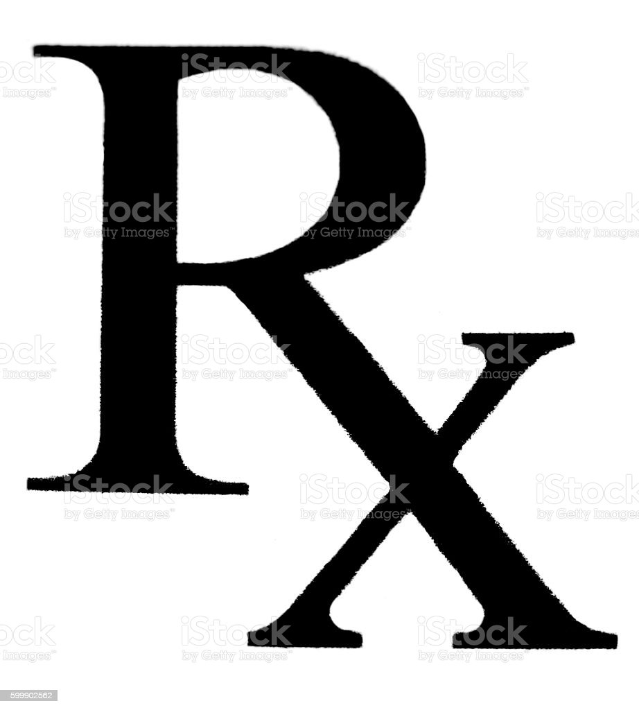 RX written in a white papper stock photo