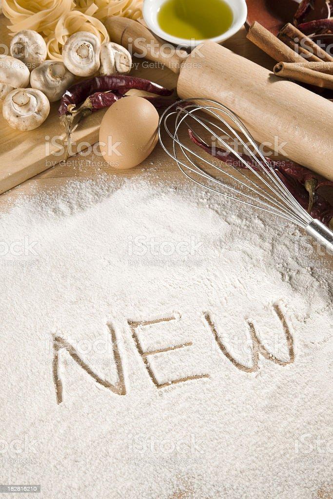 written in flour royalty-free stock photo