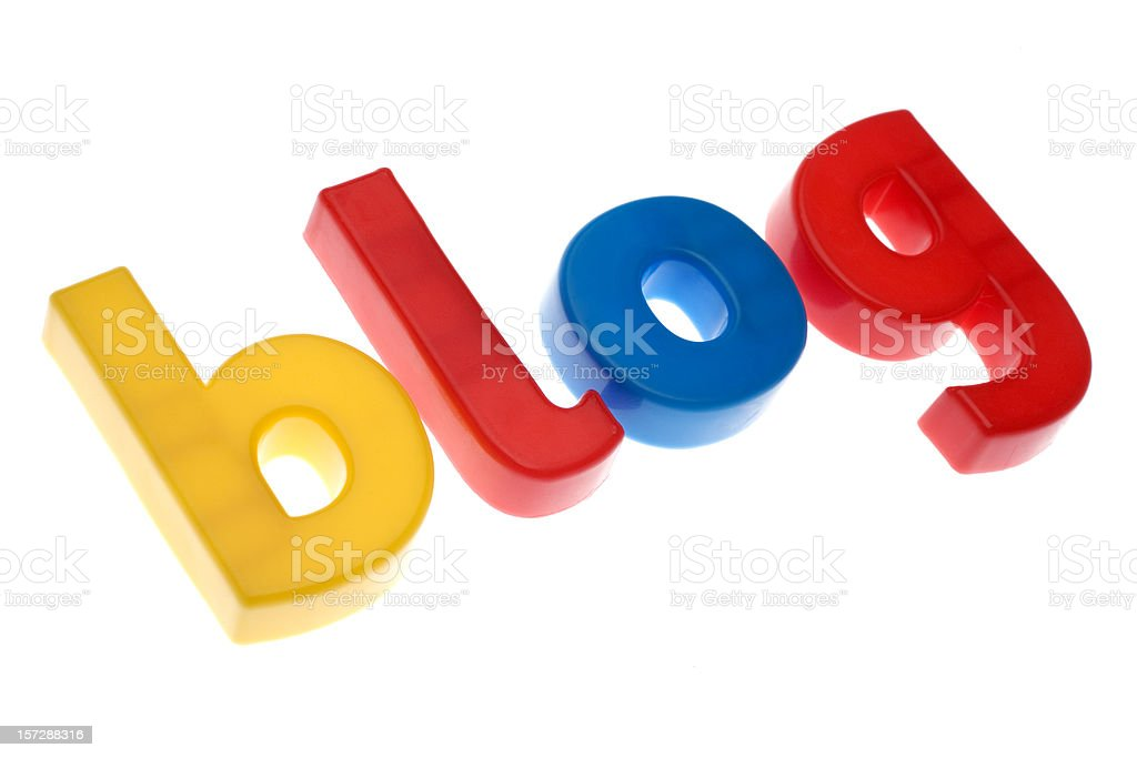 BLOG written in plastic letter on white background royalty-free stock photo