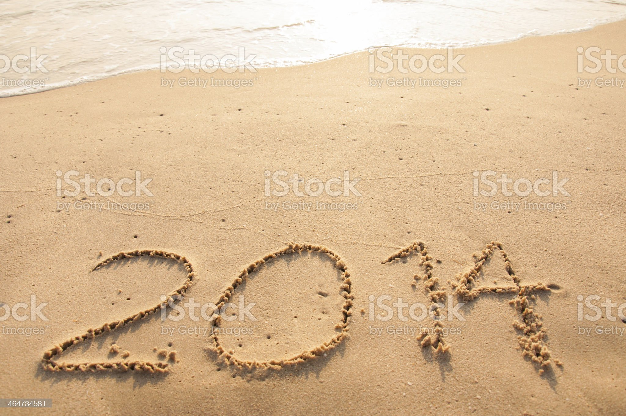 written in sand royalty-free stock photo