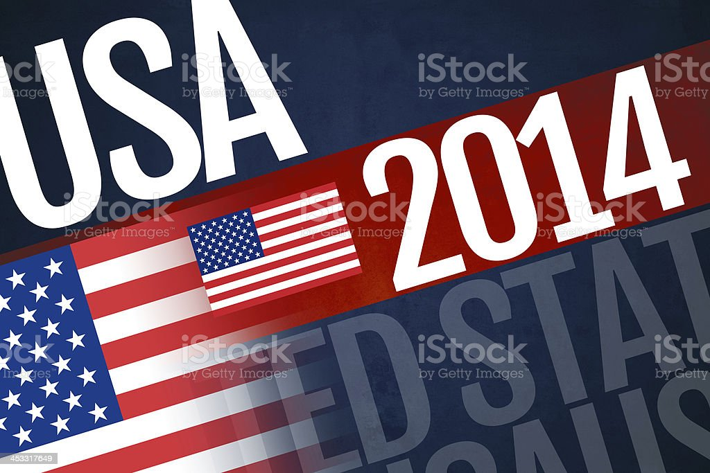 USA written on abstract background stock photo
