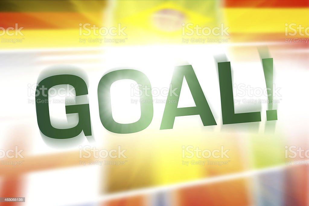 GOAL written on abstract flags background royalty-free stock photo