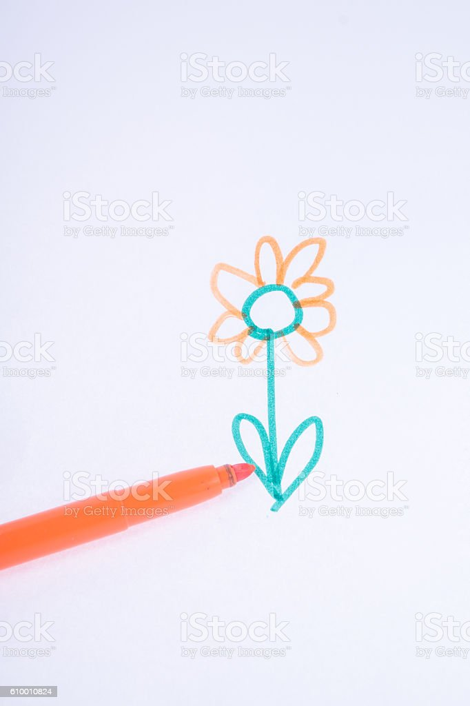 Written with marker on white paper stock photo