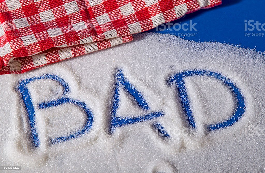 BAD written with sugar royalty-free stock photo