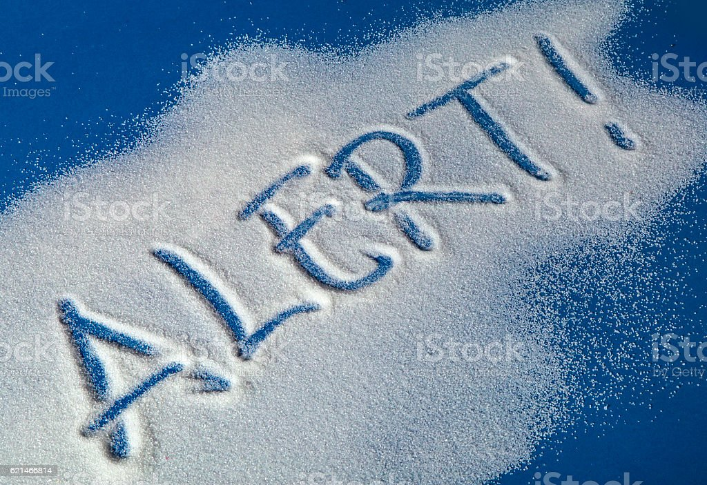 ALERT written with sugar royalty-free stock photo