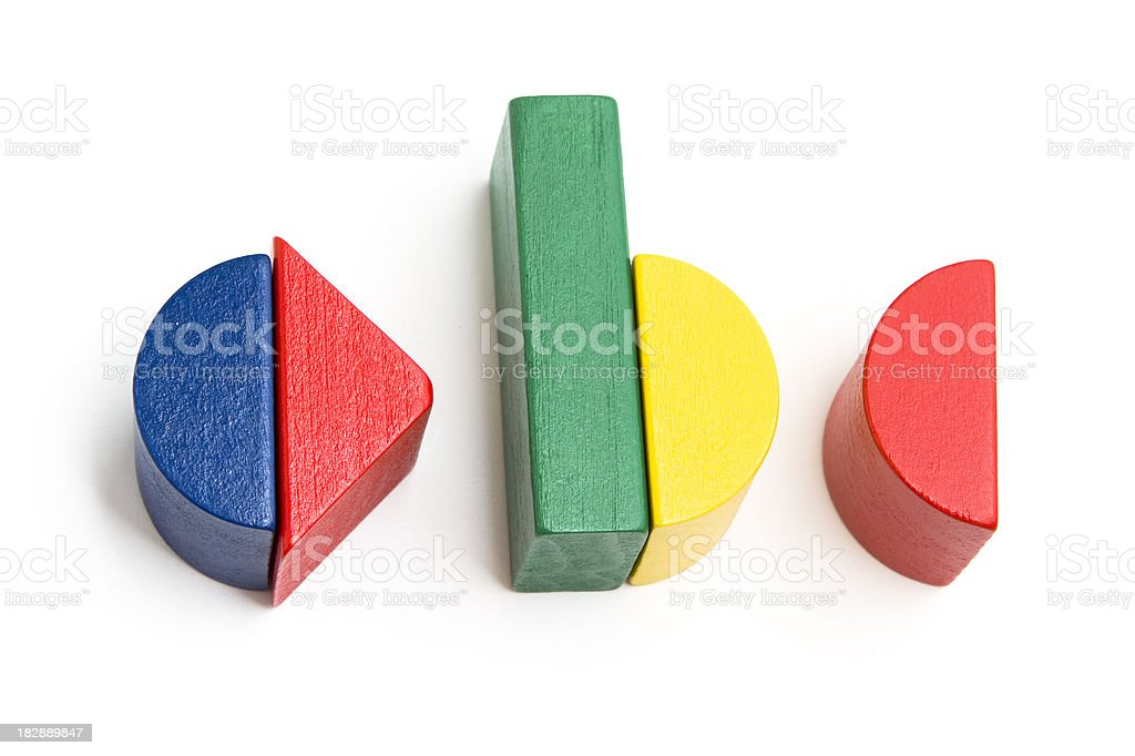 ABC Written With Toy Blocks royalty-free stock photo