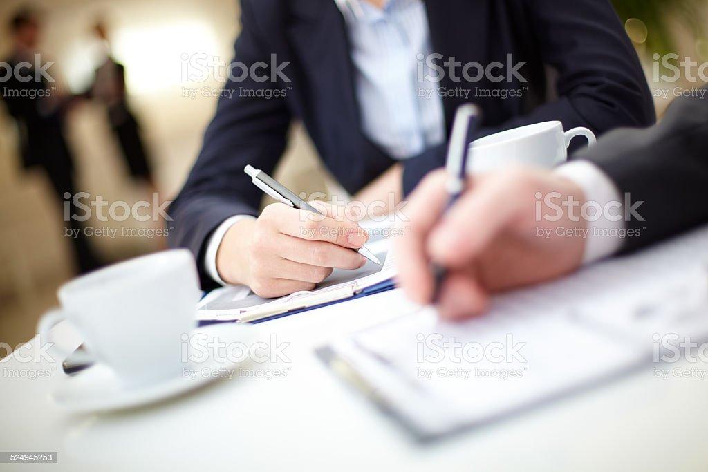 Written work stock photo