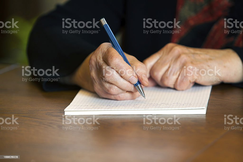 Writting letter royalty-free stock photo