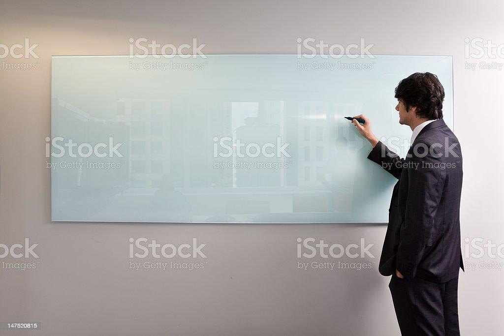 Writting on glass board stock photo